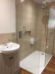 new bathroom walk-in shower, separate shower controls, Dean Taylor Bathrooms