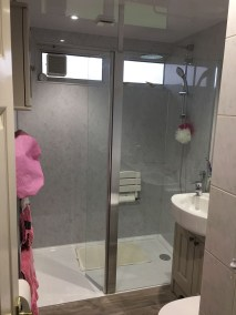 safe accessible walk-in shower, low level shower tray, underfloor heating