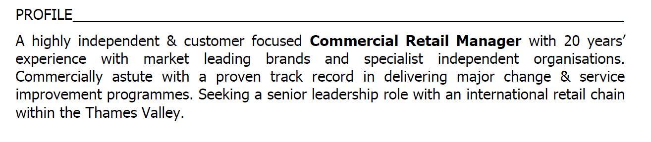 Checklist for a great CV  Dean Weller