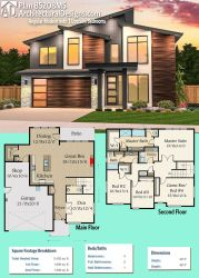 plans modern plan architectural bedrooms designs sims 2400 floor sq ft gives beds upstairs angular square feet story houses architecture