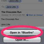 Bluefire open in email