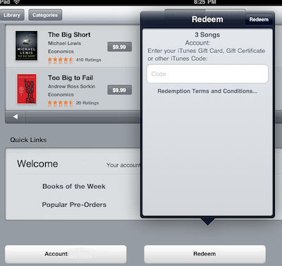 Can I use ITunes Giftcards to Buy iBooks and other Apps?