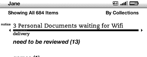 documents waiting alert Kindle