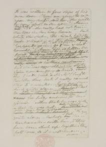 Jane Austen MS page