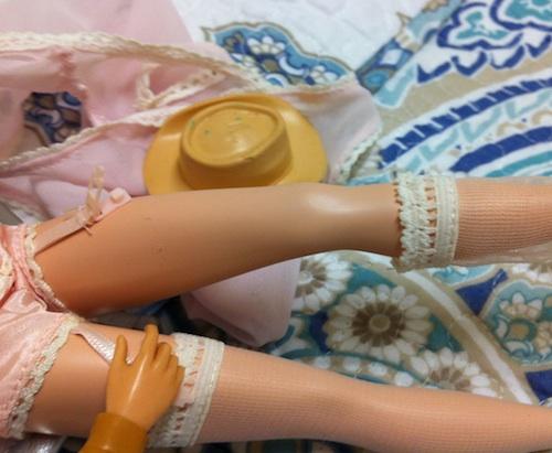 garter barbie