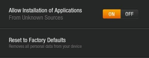 kindle fire device settings