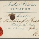 Voucher Almack's
