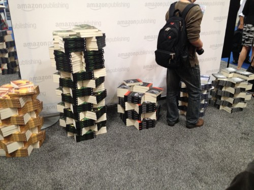Stacks of Amazon books