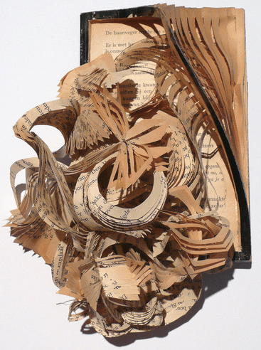 Book sculptures by Boukje Voet