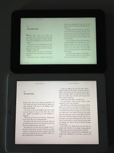 Kindle v iPad 2 resolution