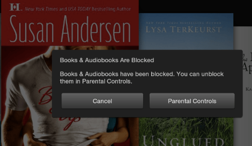 Kindle Fire HD Blocked Content