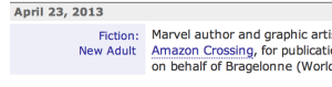 Publishers Marketplace New Adult