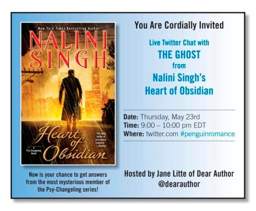 Twitter chat with Nalini Singh