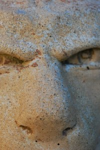 gargoyle eyes in stone