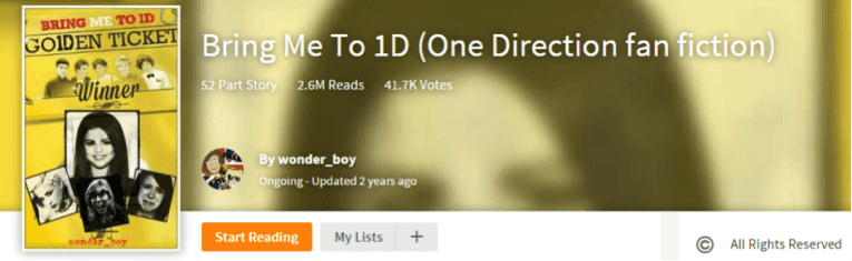 The wild wonderful world of wattpad from ainslie paton bringme1d fandeluxe Images