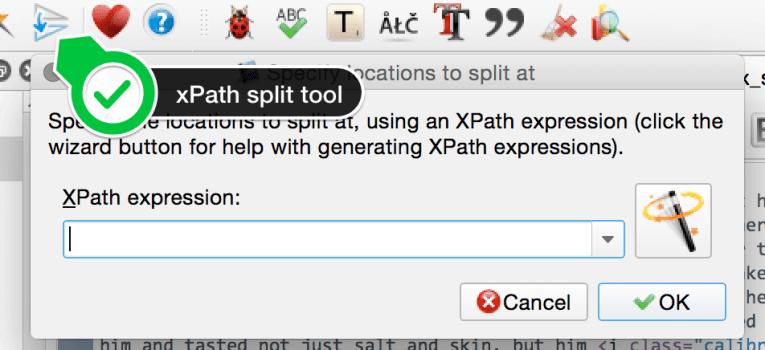 xpath split tool