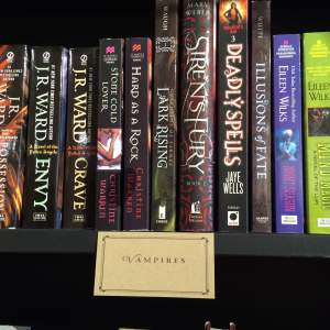 Ripped Bodice vampires shelf