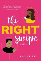Lolly pink cover with a cartoon type drawing of a Black woman with long dark hair in a yellow top in a circle in the top right and a Brown man in a black tee in a circle in the lower left - both are looking at their cell phones