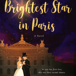 Illustrated cover with a white M/F couple,she's wearing a white knee length ballet costume, he's wearing a top hat and a black suit, they are dancing outside the facade of an historial building (probably a theatre/opera), the titles are lit up like stars in the night sky