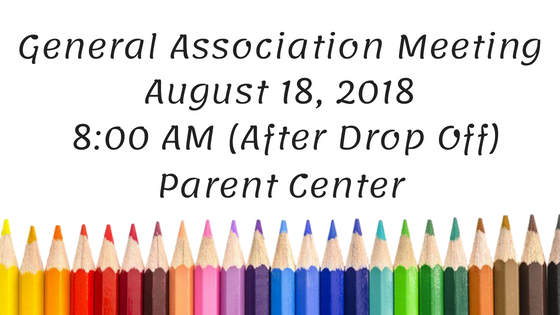 General Association Meeting – August 2018