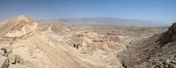 Panoramic view arava vally Desert , israel.