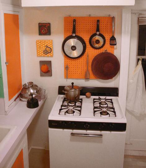 kitchen pegboard microwave cart diy craft pot holder dear handmade life hanging storage tutorial how to