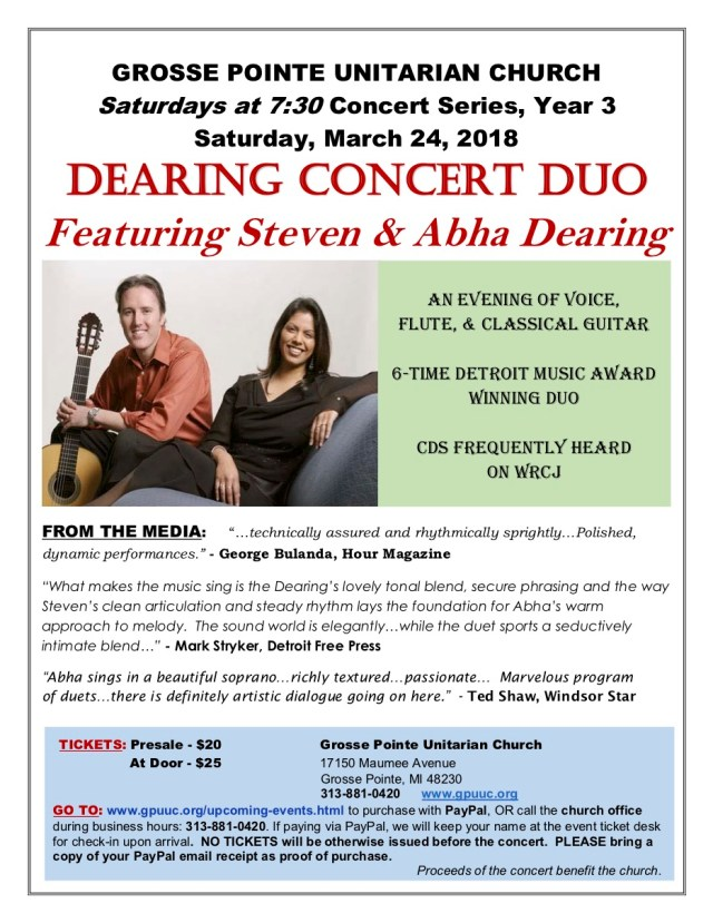 Dearing Concert Duo - Grosse Pointe concert 2018