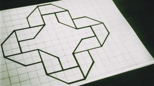 geometric 3d drawing graph paper draw drawings folding studies paintingvalley