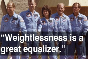 On men versus women in astronaut training. From a 1984 video interview with Melanie Wallace of PBS NOVA. via Mashable