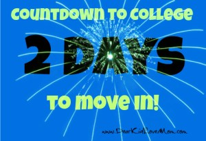 countdown to college dorm move in 2 days to go