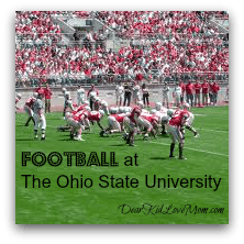 Football at The Ohio State University DearKidLoveMom.com