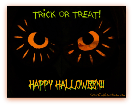 Halloween Trick or Treat DearKidLoveMom.com