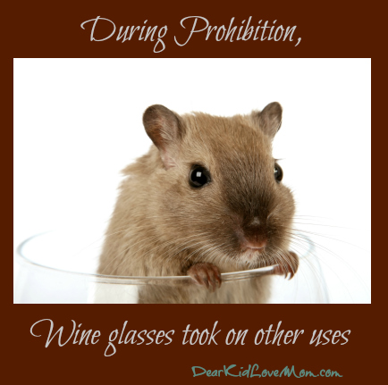 During Prohibition, wine glasses took on different uses DearKidLoveMom.com