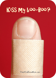 Kiss My Boo-Boo? Paper cuts may be the most painful injury that does not require intervention by a medical professional. DearKidLoveMom.com