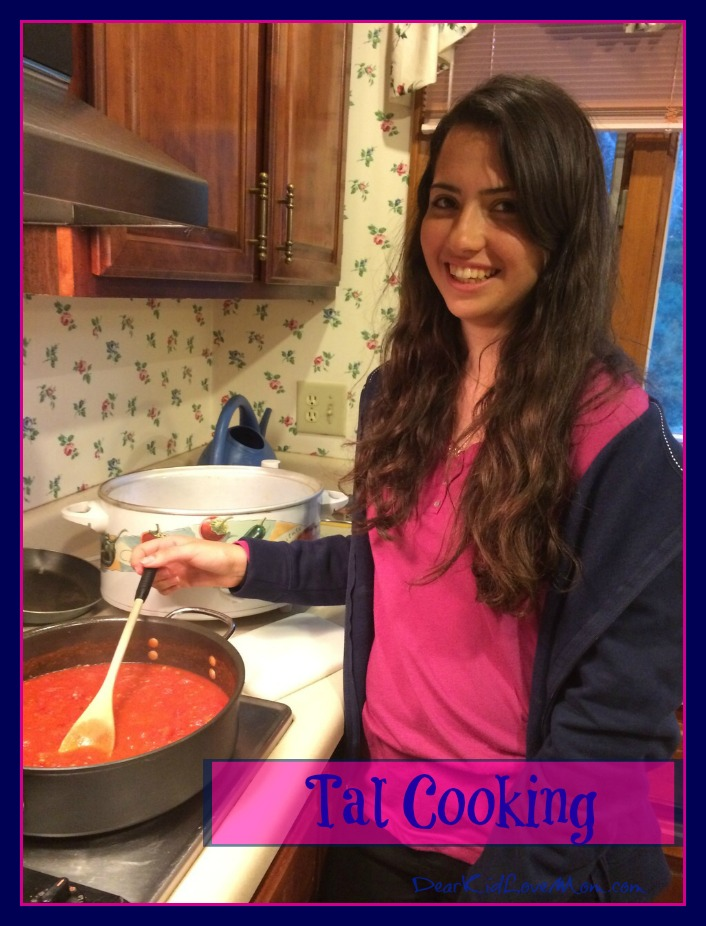 Tal Cooking Shakshukah DearKidLoveMom.com
