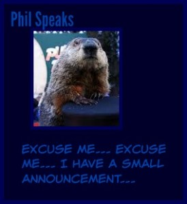 Punxsutawney Phil. Mom plots to get to Gobbler's Knob for Groundhog Day. DearKidLoveMom.com