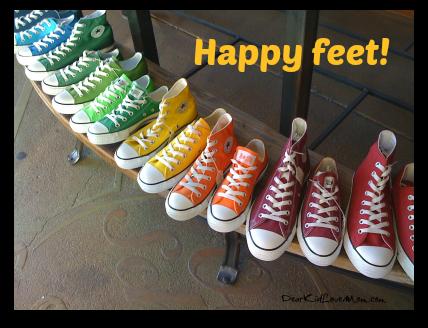 Happy Feet! DearKidLoveMom.com
