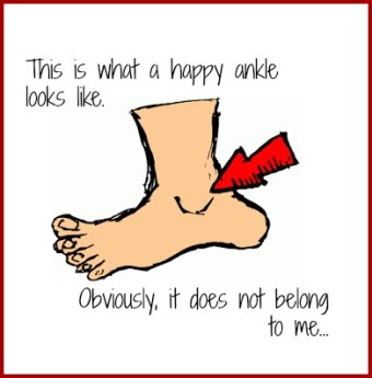 This is what a happy ankle looks like. Obviously it doesn't belong to me. DearKidLoveMom.com