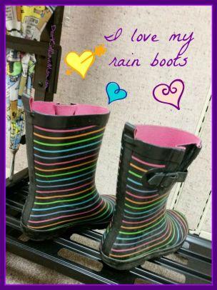 I love my rain boots. DearKidLoveMom.com