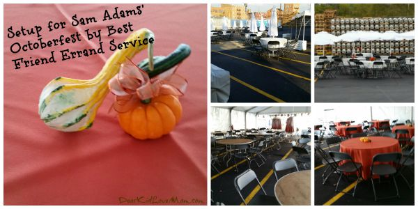 With Best Friend Errand Service turning the parking lot into an Event Locale for the Samuel Adams Octoberfest Party. DearKidLoveMom.com