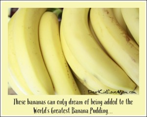 These bananas can only dream of being added to the World's Best Banana Pudding. DearKidLoveMom.com
