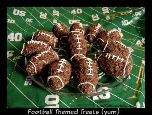 Football Themed Treats (yum!). DearKidLoveMom.com