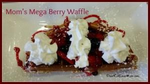 I had the Mega-Berry Waffle. YUM! at Waffles Incaffeinated. DearKidLoveMom.com
