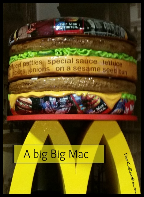 Big Mac at the Big Mac Museum. DearKidLoveMom.com