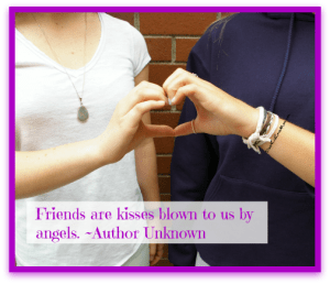 Friends are kisses blown to us by angels. quote. Best Friend Day. DearKidLoveMom.com