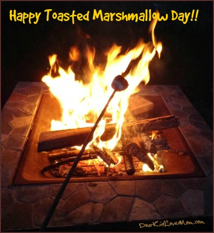 Happy Toasted Marshmallow Day! DearKidLoveMom.com