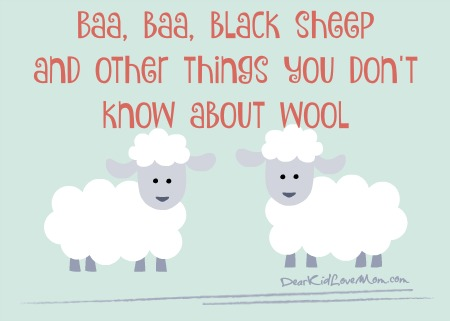 Baa baa black sheep and other things you don't know about wool. DearKidLoveMom.com
