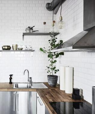 top cucina in legno massello