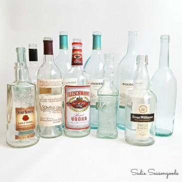 1_clear_glass_bottles_to_repurpose_into_sea_glass_for_summer_coastal_centerpiece_decor_Sadie_Seasongoods