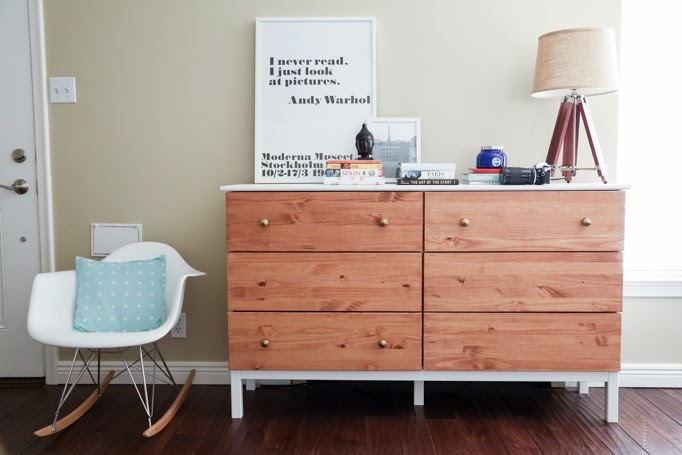 ikea-tarva-dresser-hack-6-drawer-paint-stain-combo